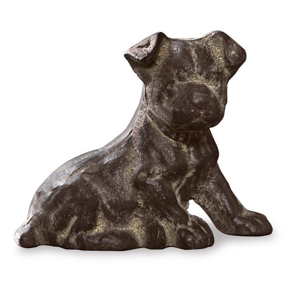 Loberon Deko-Hund »Chien« in antikbraun