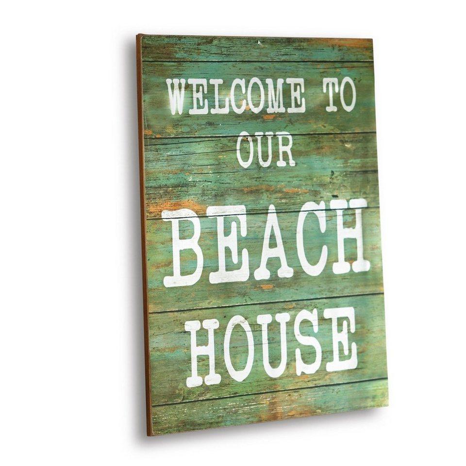 Loberon Dekoboard »Beach House« in grün