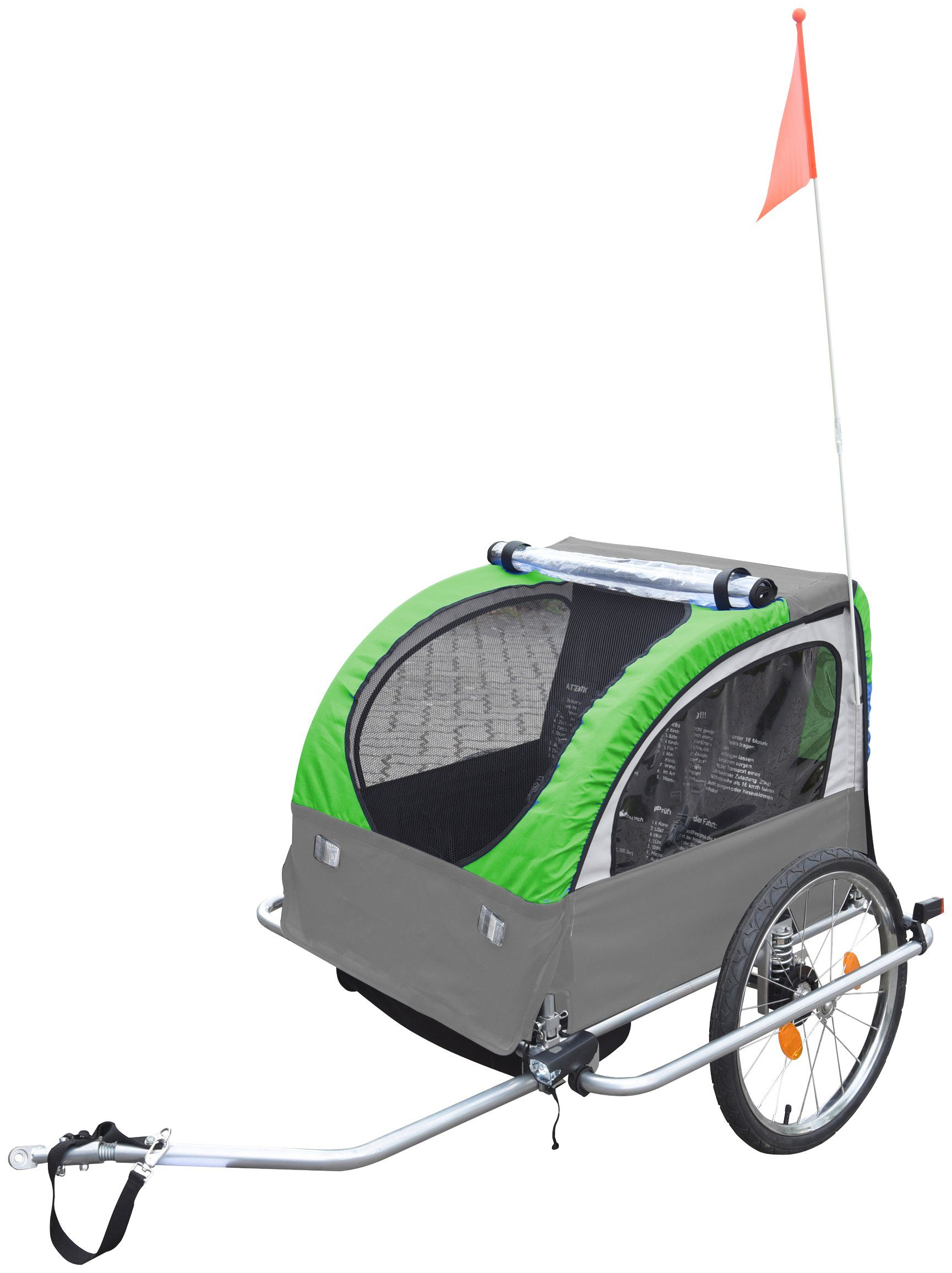 Kinder-Fahrradanhänger »Komfort«, 2 Sitzplätze, gefedert