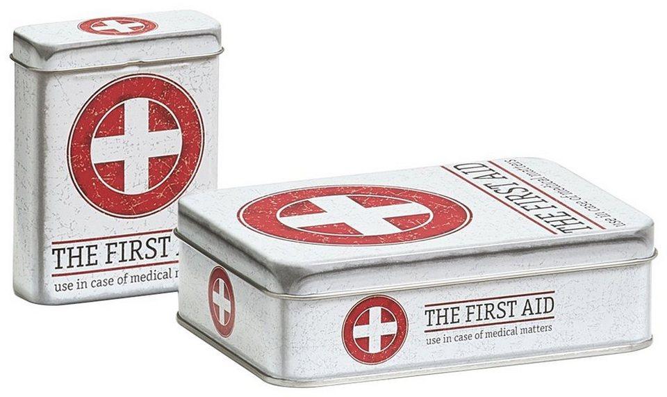 Aufbewahrungsbox »First Aid 2 tlg. Set« in weiß