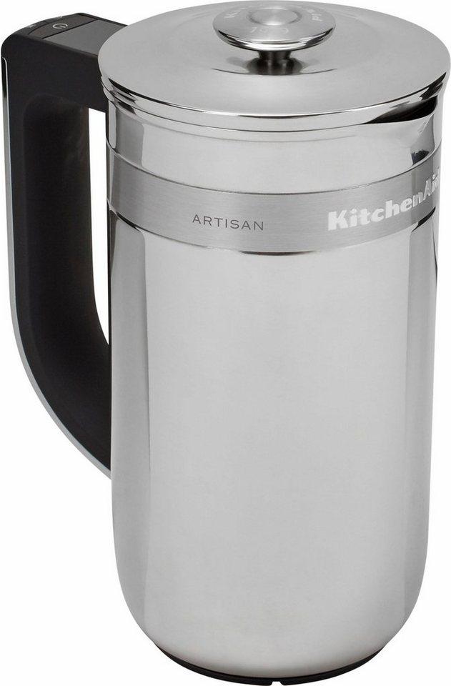 KitchenAid® Kaffee-Pressstempelkanne »Artisan 5KCM0512EES«, mit eingebauter Waage und Timer in edelstahl