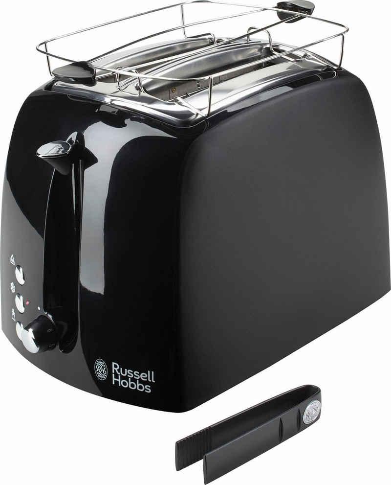 RUSSELL HOBBS Toaster 22601-56 Textures Plus, 2 kurze Schlitze, für 2 Scheiben, 850 W