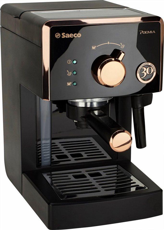 Saeco Espresso Siebträger HD8425/21 Poemia 30 Jahre Jubiläumsedition, 15 Bar, schwarz-kupf in schwarz-kupfer