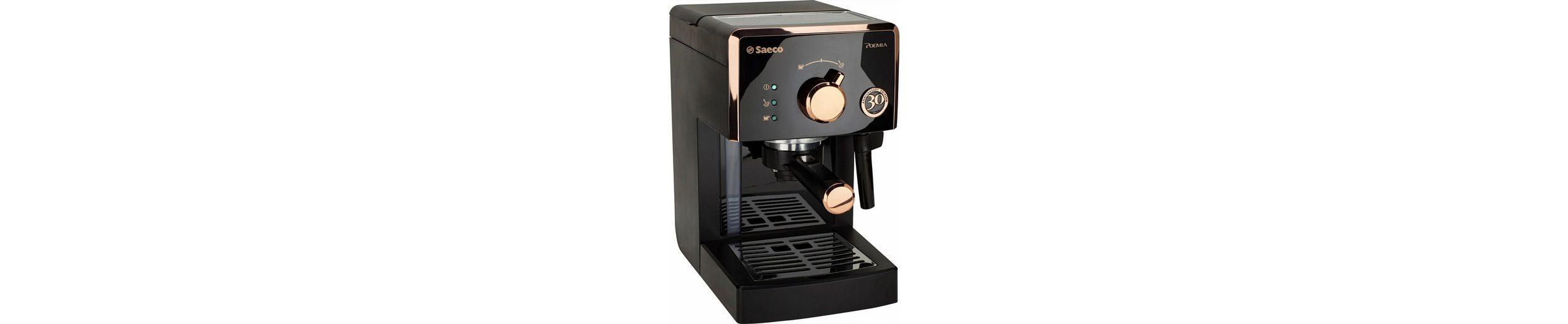 Saeco Espresso Siebträger HD8425/21 Poemia 30 Jahre Jubiläumsedition, 15 Bar, schwarz-kupf