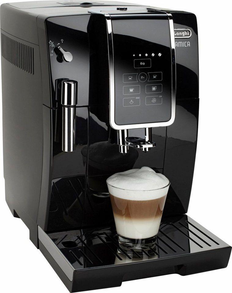 De'Longhi Kaffeevollautomat Dinamica »ECAM 350.15.B«, schwarz in schwarz