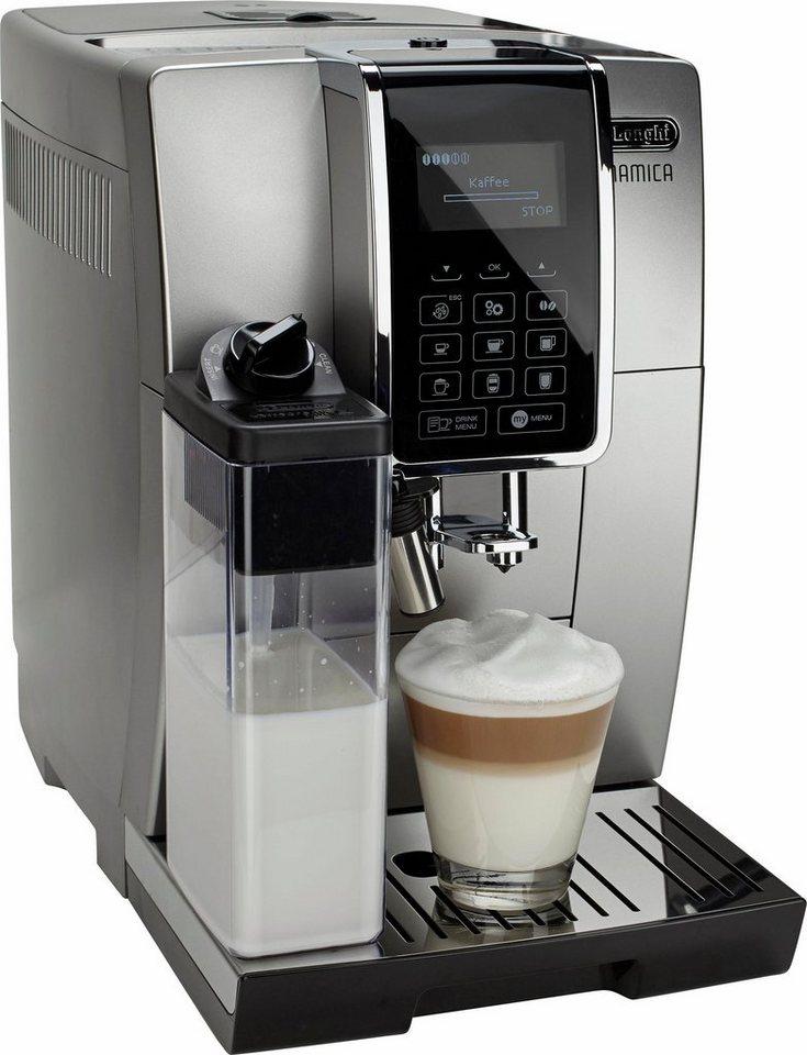 De'Longhi Kaffeevollautomat Dinamica »ECAM 350.75.SB«, silber-schwarz in silber-schwarz