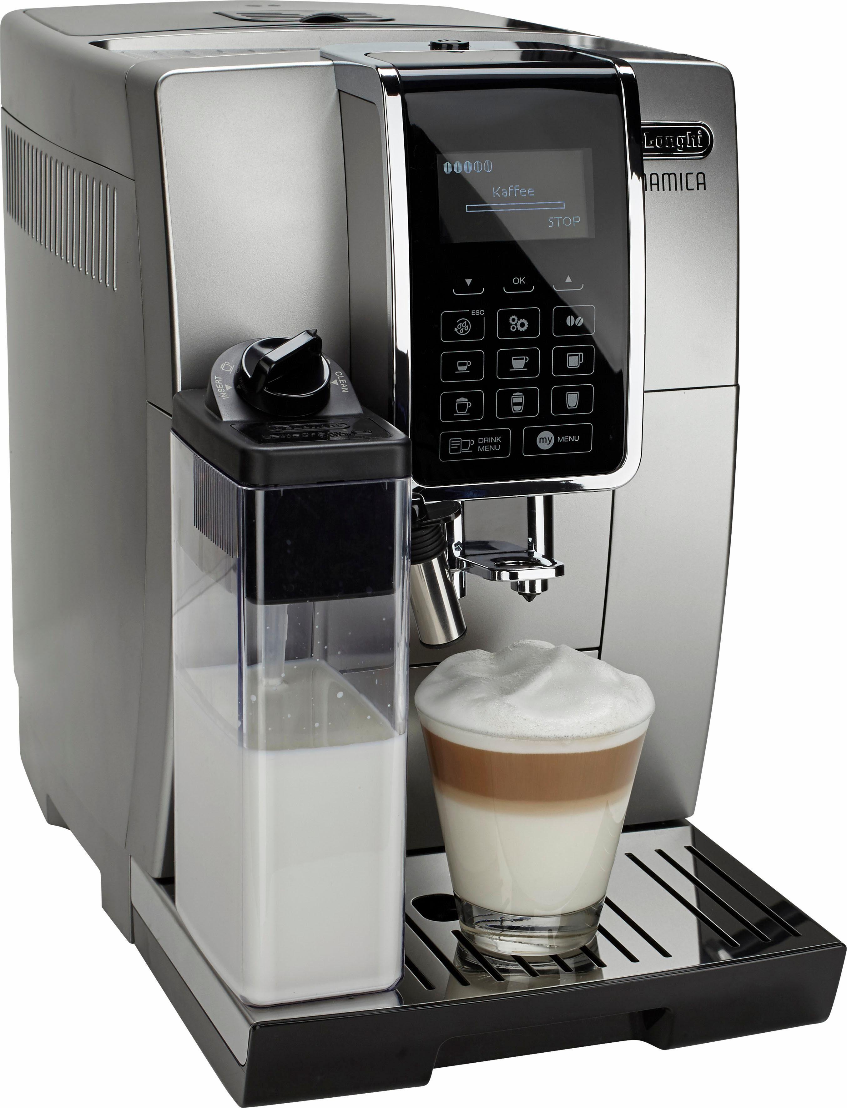 De'Longhi Kaffeevollautomat Dinamica »ECAM 350.75.SB«, silber-schwarz