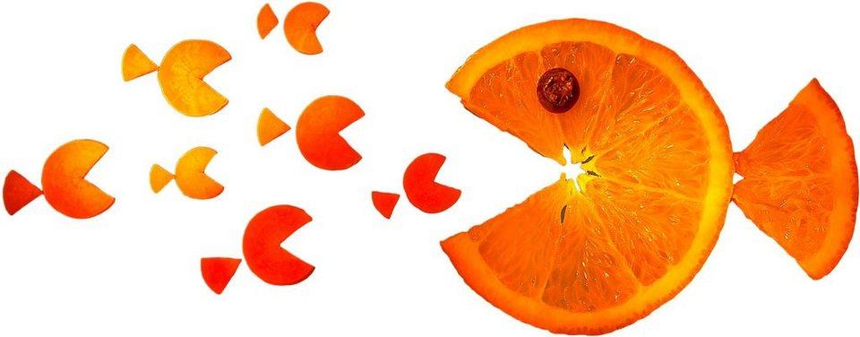 Home affaire Wandtattoo »Ianeva - Sweet Carrot«, 70/27 cm in orange