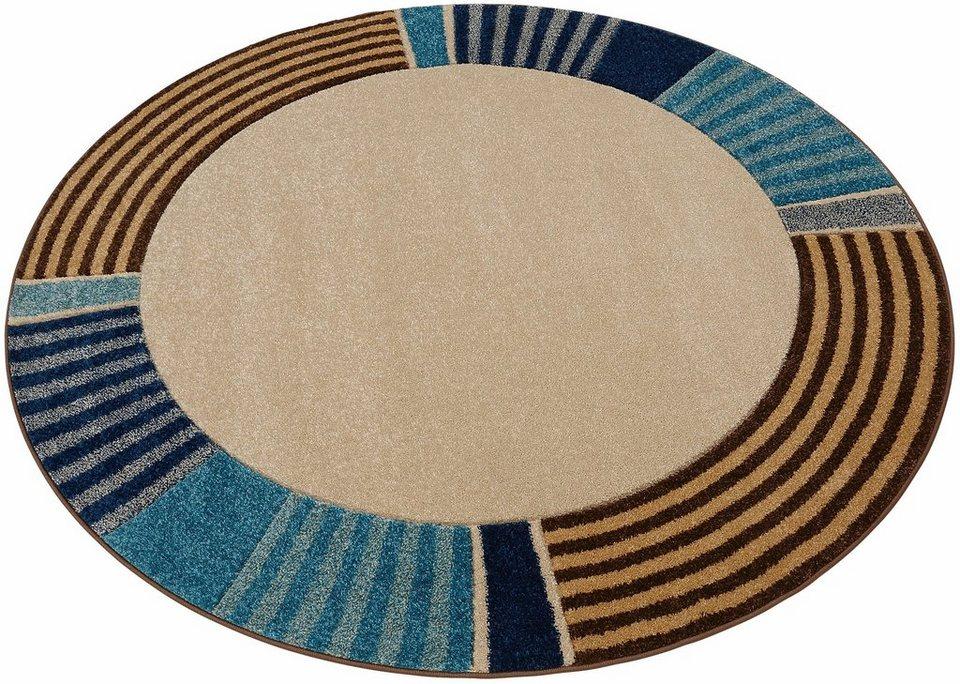 Teppich, rund, my home, »Eike«, gewebt in blau