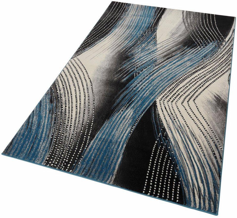 Teppich, Home affaire Collection, »Patrice«, gewebt in grau-blau