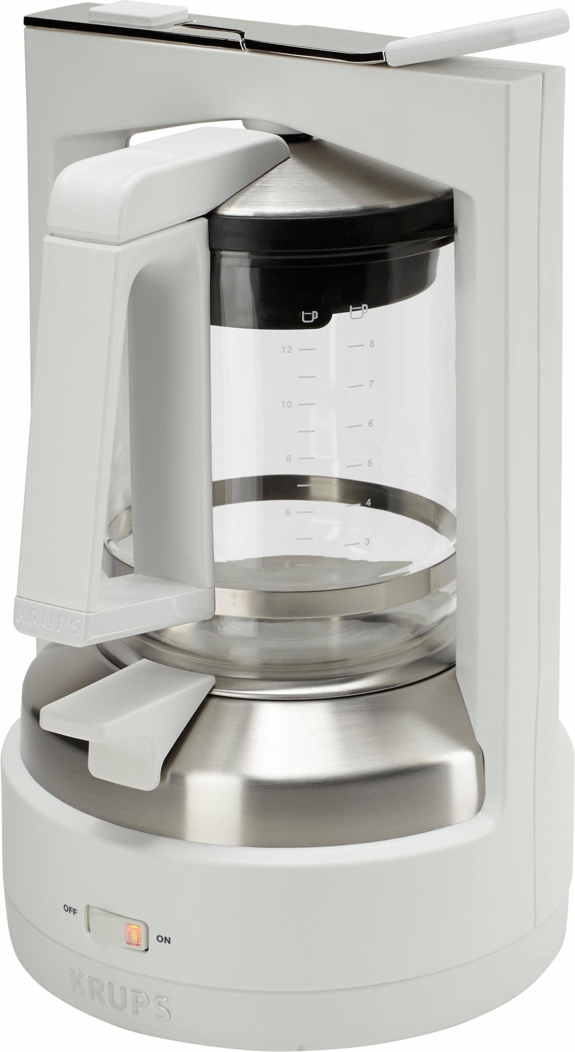 Krups Druckbrüh-Kaffeemaschine KM4682 T 8.2, 1l Kaffeekanne, Permanentfilter