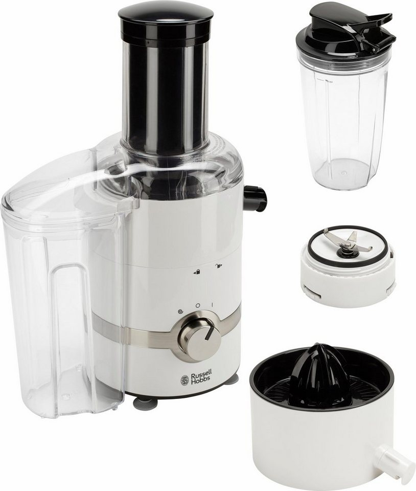 Russell Hobbs 3 in 1 Ultimative Entsafter-Zitruspresse-Smoothie Maker 22700-56, 800 Watt in weiß