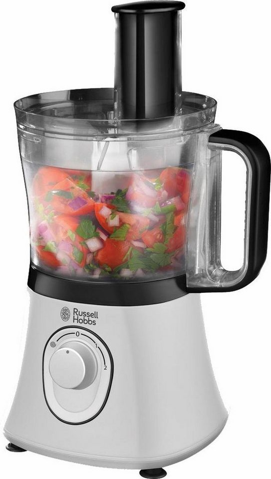 Russell Hobbs Food Processor Aura 19005-56, 600 Watt in weiß-schwarz