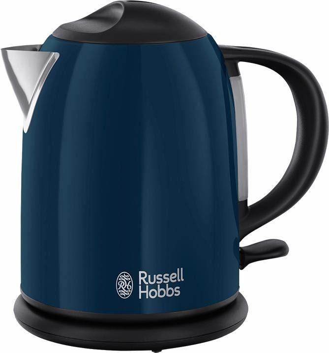 Russell Hobbs Kompakt-Wasserkocher 20193-70, 1 Liter, 2200 Watt, Edelstahl blau lackiert