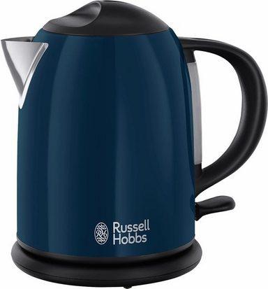 russell hobbs kompakt wasserkocher 20193 70 1 liter 2200 watt edelstahl blau lackiert online. Black Bedroom Furniture Sets. Home Design Ideas