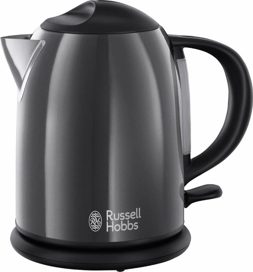 Russell Hobbs Kompakt-Wasserkocher Colours Plus+ Storm Grey 20192-70, 1 Liter, 2200 Watt