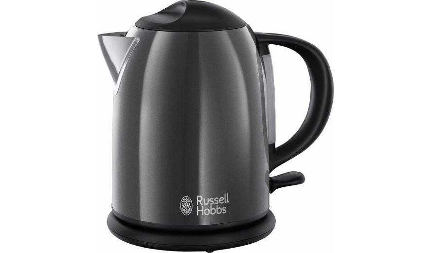 Russell Hobbs Kompakt-Wasserkocher Colours Storm Grey 20192-70, 1 Liter, 2200 Watt