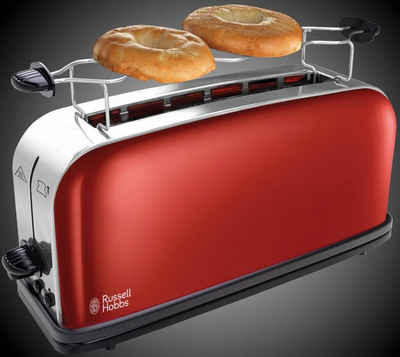RUSSELL HOBBS Toaster Colours Plus+ Flame Red 21391-56, 1 langer Schlitz, 1000 W