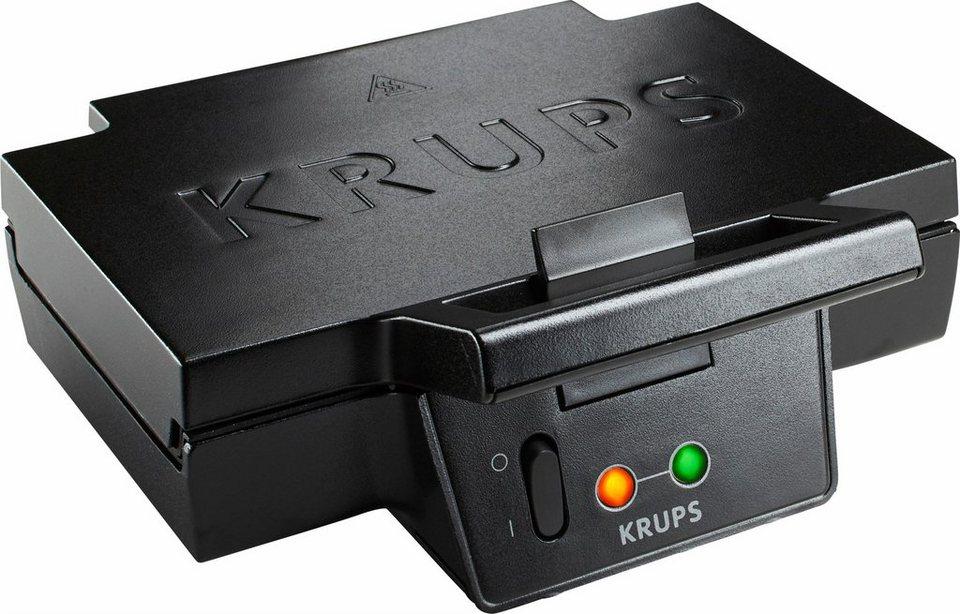 Krups Sandwich-Toaster FDK451 mit extra großen und tiefen Toastplatten, 850 Watt in schwarz, matt