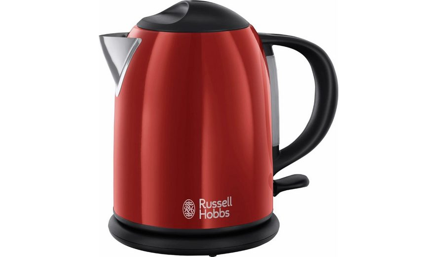 Russell Hobbs Kompakt-Wasserkocher Colours Flame Red 20191-70, 1 Liter, 2200 Watt