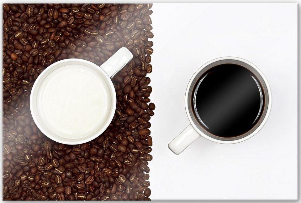 Home affaire Acrylglasbild »Lavsen - White Espresso«, 60/40 cm in weiß/braun