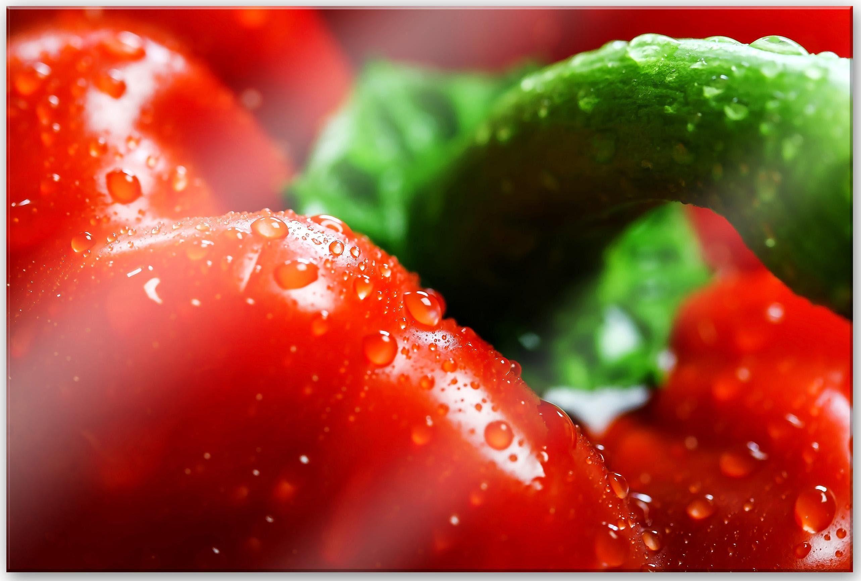 Home affaire Acrylglasbild »Fresh Paprika«, 60/40 cm