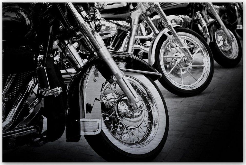 Home affaire Alu-Dibond Bild »Motorcycle Wheels«, 60/40 cm in anthrazit