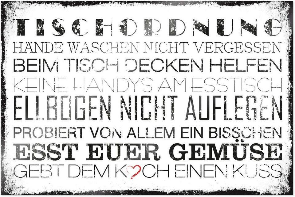 Home affaire Poster »Tischordnung«, 90/60 cm in weiß/schwarz