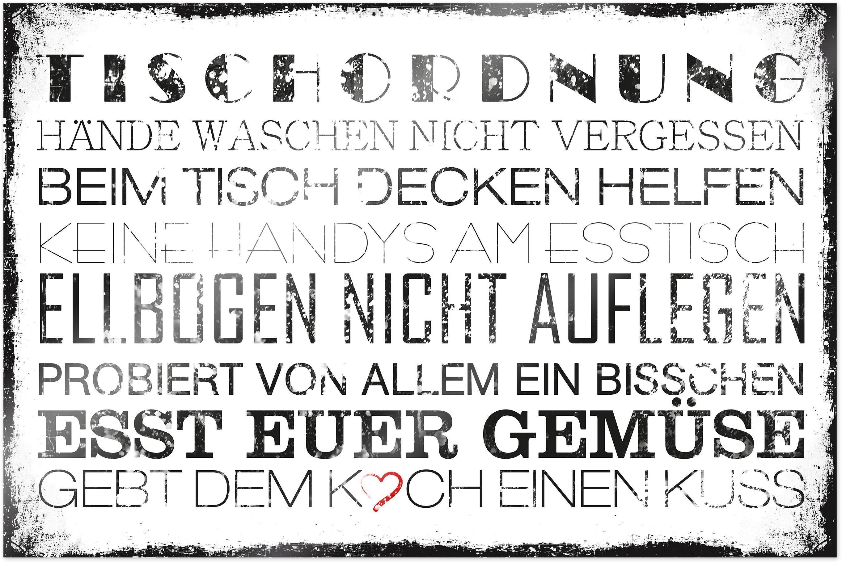 Home affaire Poster »Tischordnung«, 90/60 cm