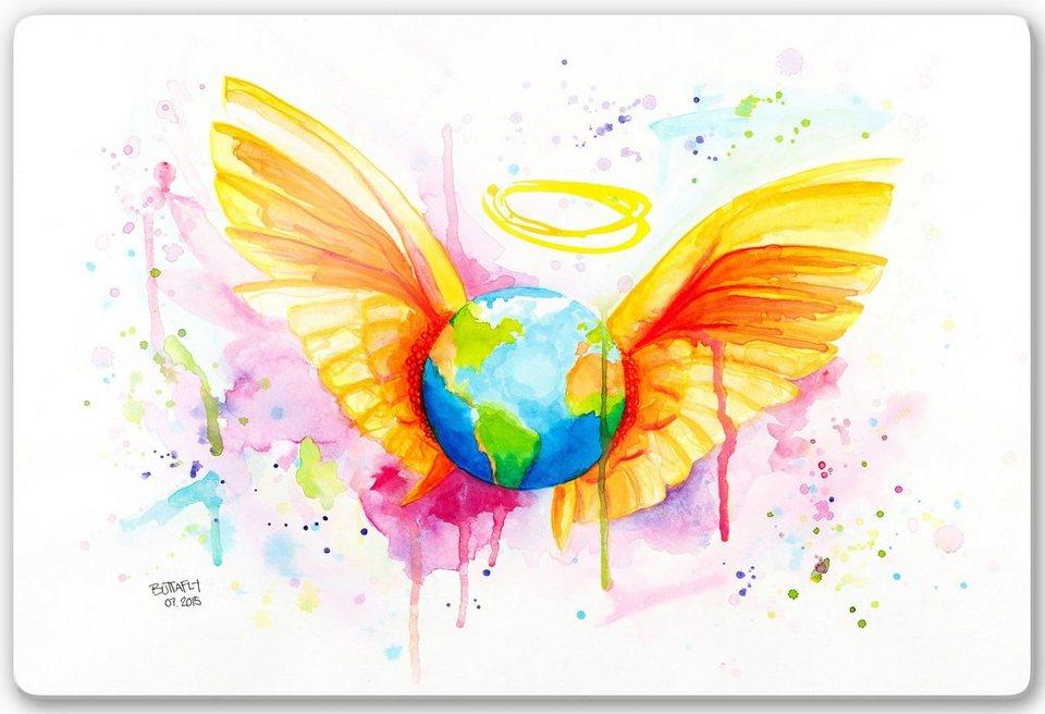 Home affaire Glasbild »Buttafly - Angel«, 60/40 cm in bunt