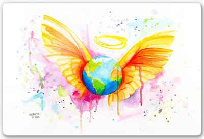 Wall-Art Glasbild »Buttafly - Angel«, 60/40 cm
