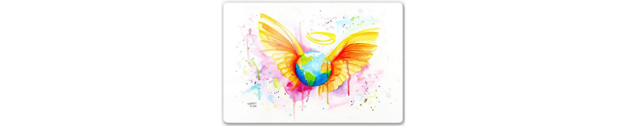 Home affaire Glasbild »Buttafly - Angel«, 60/40 cm