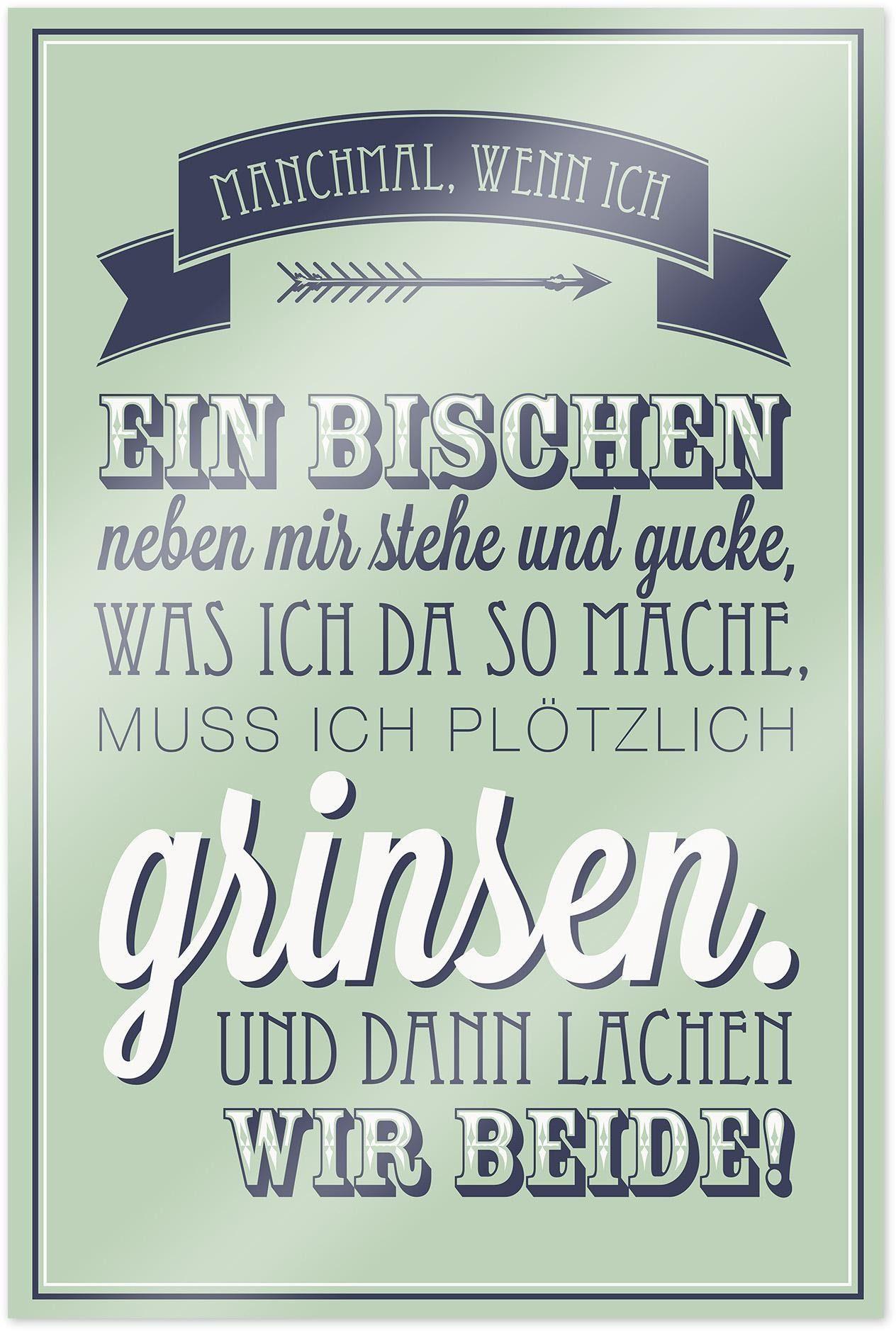 Home affaire Poster »Manchmal, wenn ich ein …«, 60/90 cm