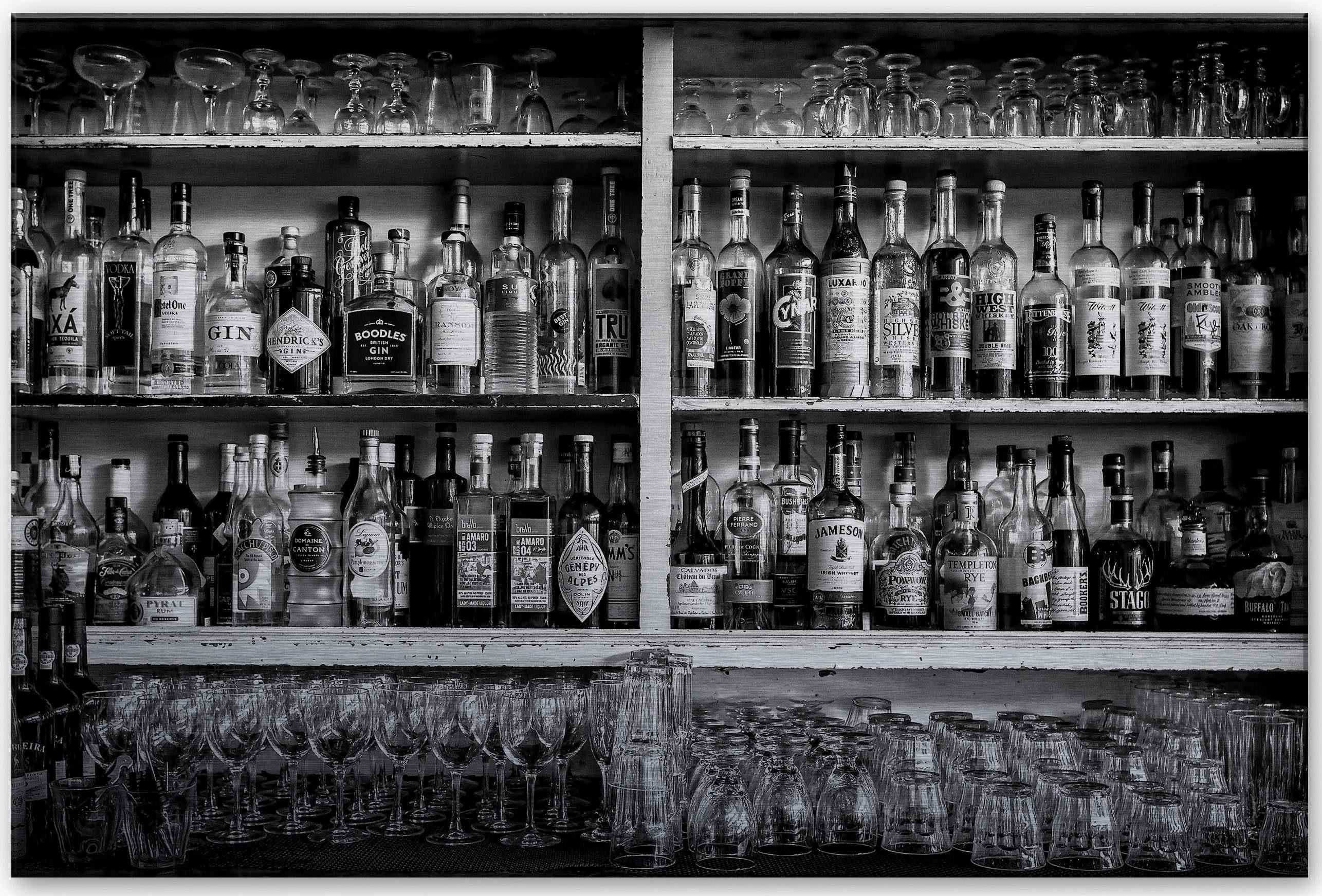 Home affaire Alu-Dibond Bild »Klein - The Classic Bar«, 60/40 cm