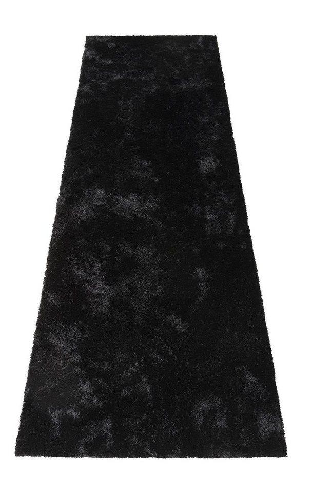 Hochflor-Läufer, Bruno Banani, »Dana«, Höhe 30 mm, handgetuftet in schwarz