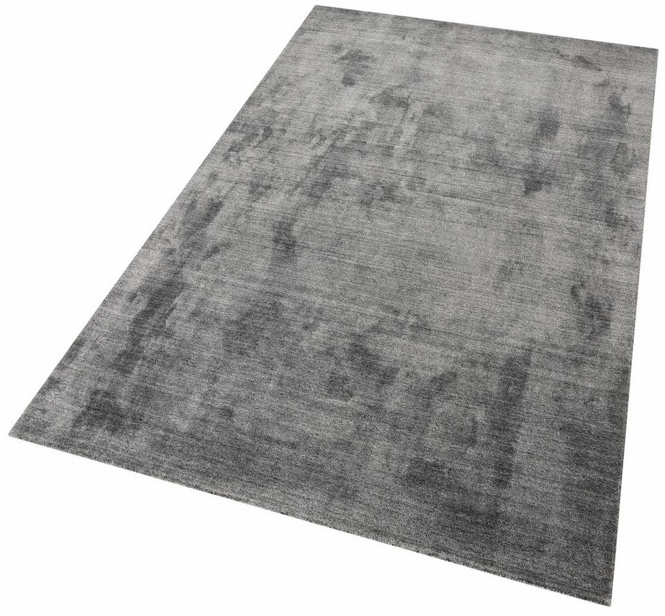 Teppich, Theko exklusiv, »Bogota«, handgewebt in anthrazit