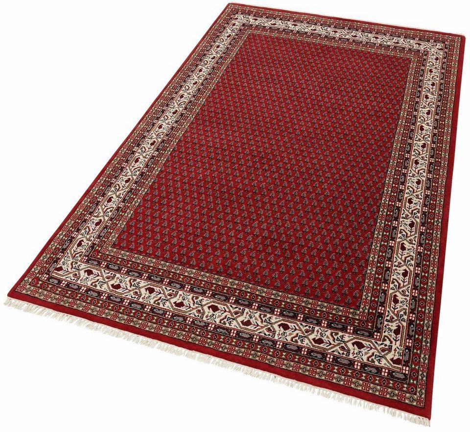 Orient-Teppich, Theko exklusiv, »Chandi Mir«, handgeknüpft, 140.000 Knoten/m², reine Schurwolle in rot