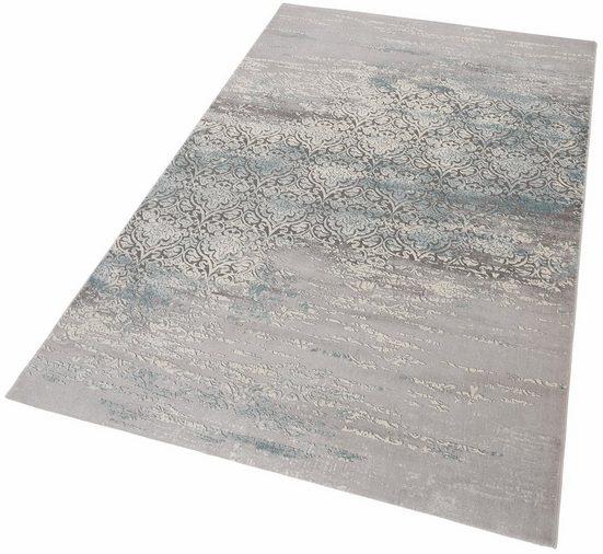 Teppich »Danica«, merinos, rechteckig, Höhe 12 mm, Vintage Design, Hoch-Tief-Effekt, Wohnzimmer