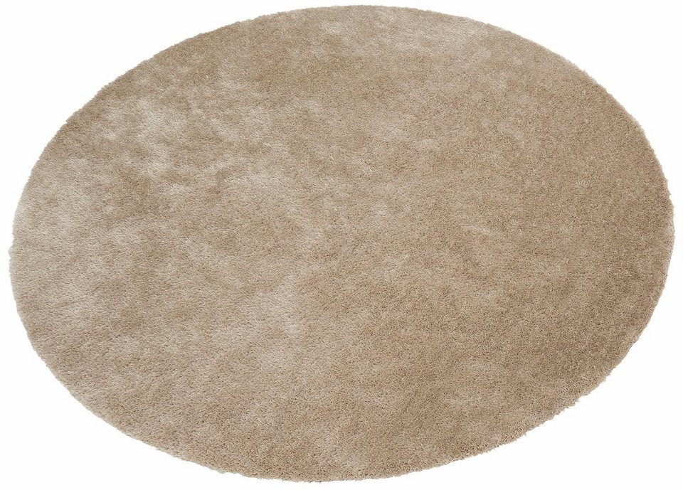 Teppich rund beige  Hochflor-Teppich »Dana«, Bruno Banani, rund, Höhe 30 mm online ...