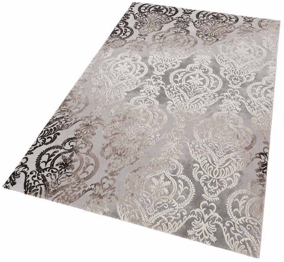 Teppich, merinos, »Bahar«, Vintage, Hoch-Tief-Effekt in braun grau