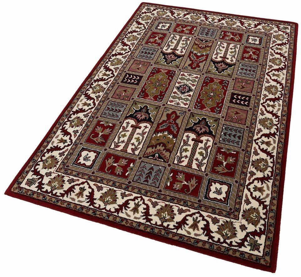 Orient-Teppich, Theko exklusiv, »Royal Ghom«, reine Schurwolle, handgetuftet in rot