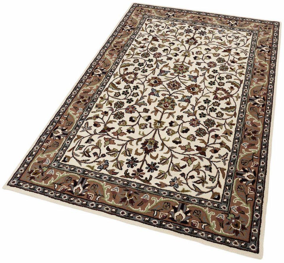 Orient-Teppich, Theko exklusiv, »Kashan allover«, reine Schurwolle, handgetuftet in creme