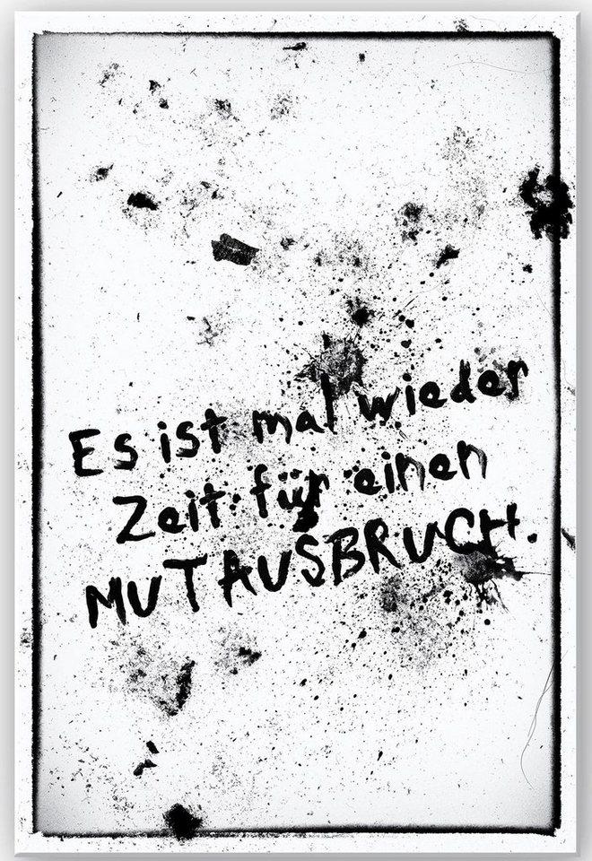 Home affaire Wandbild »Es ist mal wieder Zeit für …«, 30/40 cm in weiß/schwarz