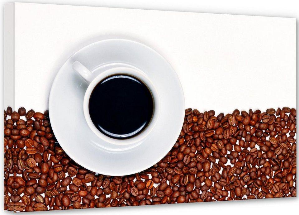 Home affaire Leinwandbild »Lavsen - Coffee Break«, 45/30 cm in weiß/braun
