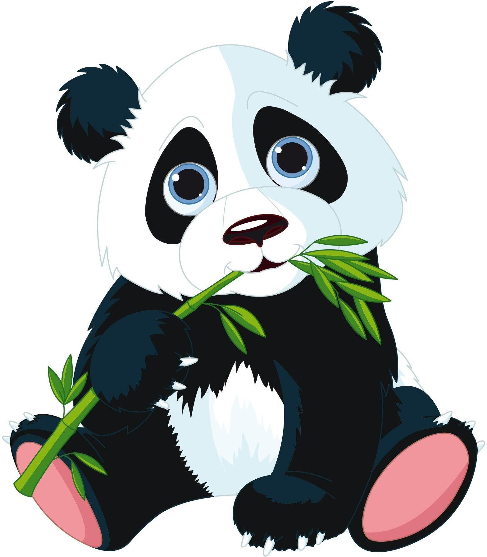 Home affaire Wandtattoo »Naschender Panda«, 50/57 cm