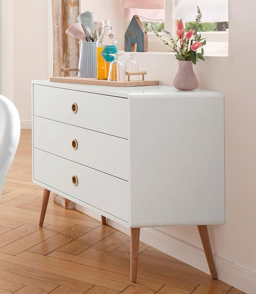 Kommode, Home affaire, »Softline«, Breite 81,5 cm in weiß lackiert