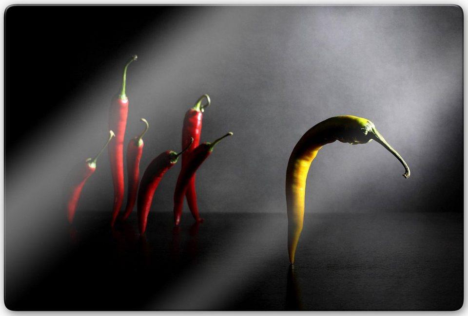 Home affaire Glasbild »Ivanova - Hit the road, Chilipepper«, 80/60 cm in anthrazit/rot