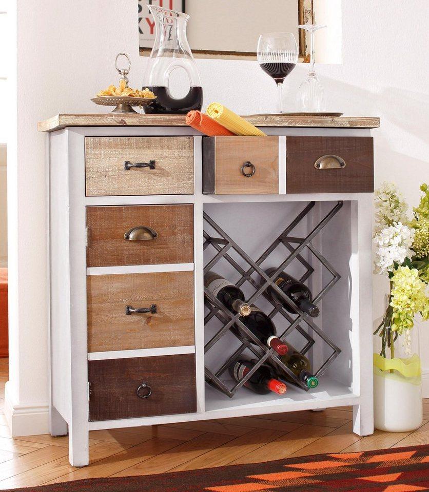home affaire kommode inkl weinregal online kaufen otto. Black Bedroom Furniture Sets. Home Design Ideas