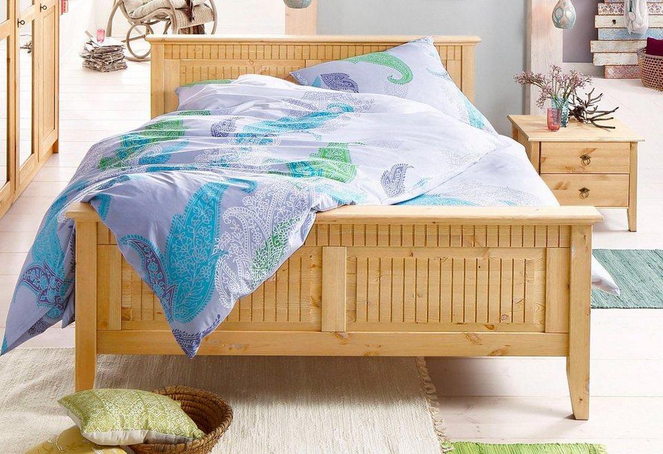 Home affaire Bett »Bozen«, in 2 Farben und 4 Breiten in gelaugt/geölt