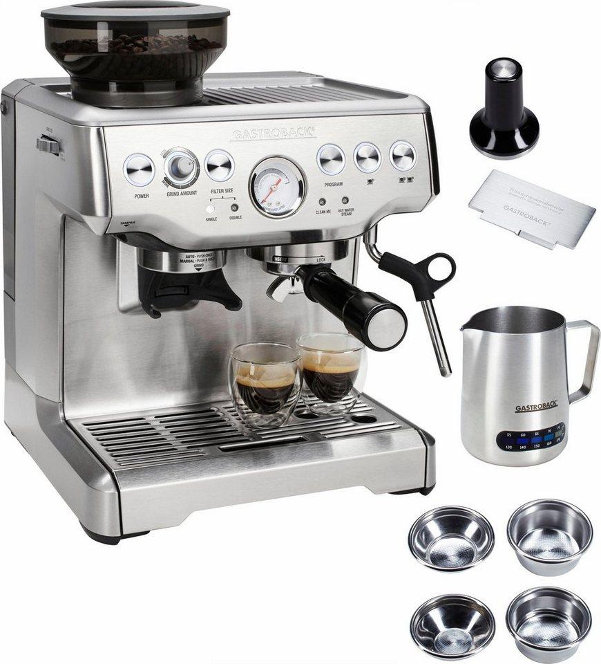 Gastroback Espressomaschine Design Espresso Advanced Pro GS in silber